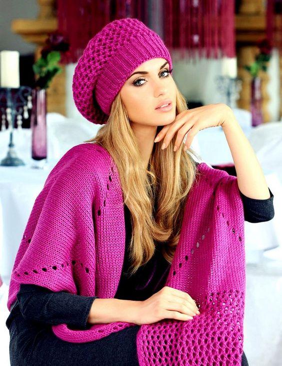 модные вязаные женские шапки 100 фото осень зима 2017 2018