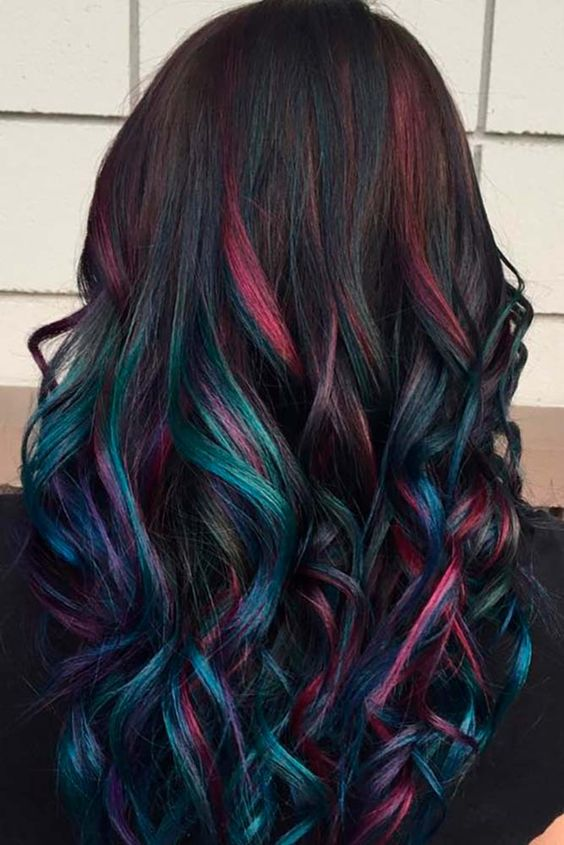 Мелирование на волосы несколькими цветами