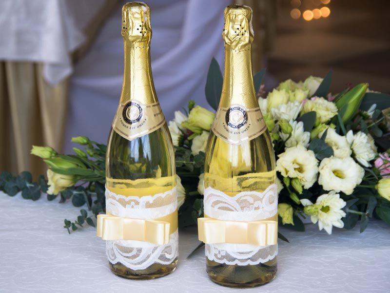 Как украсить шампанское своими руками 799