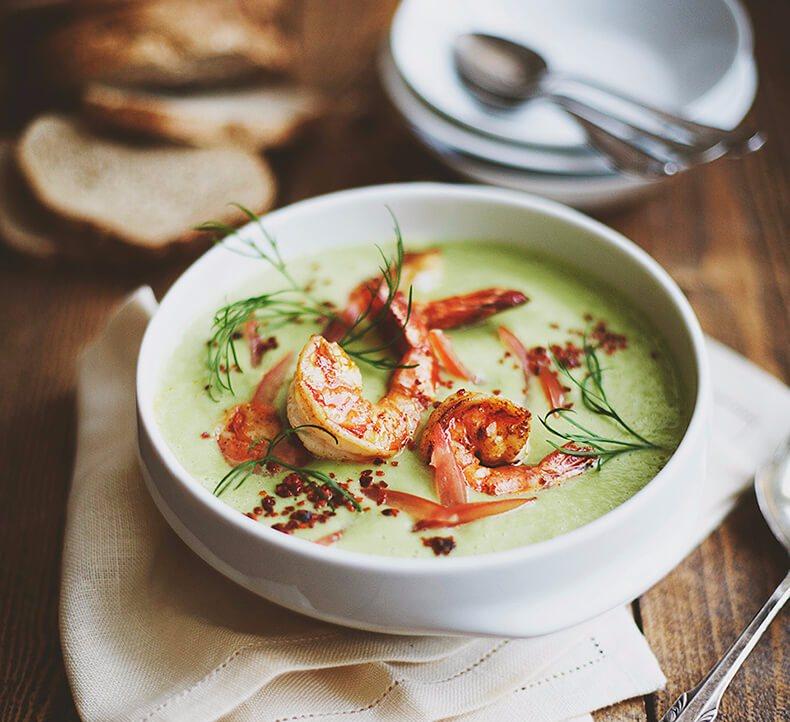 Красивая подача супов фото