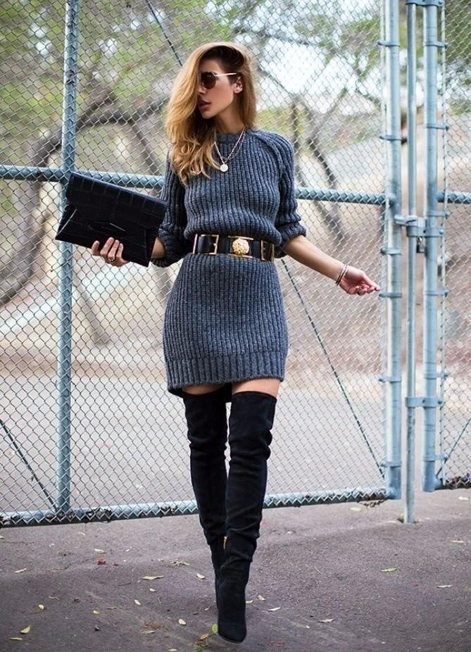 теплые вязаные платья для зимнего образа обсуждение на Liveinternet