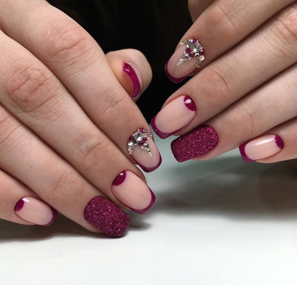 Рисунки гель лаком на ногтях фото 2018 френч