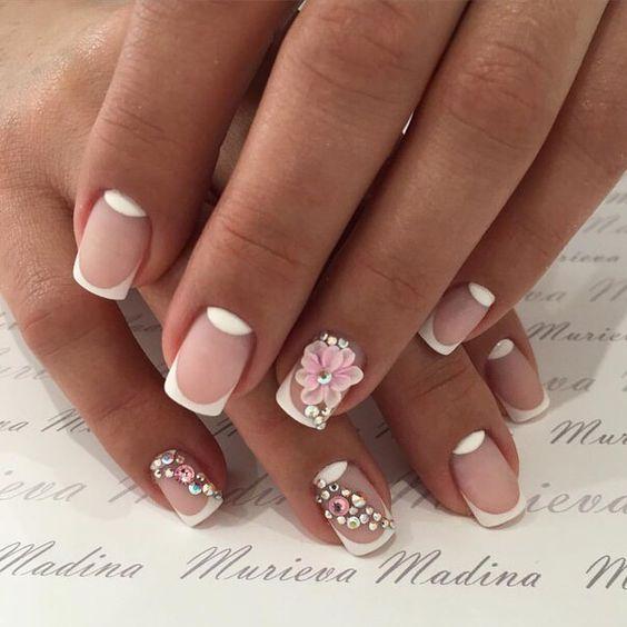 фото рисунки на ногтях французский маникюр