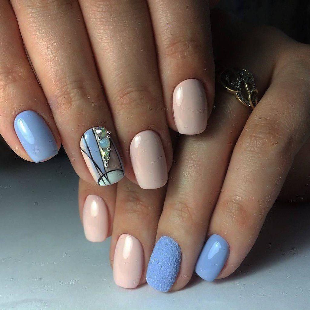 Короткие светлые ногти фото дизайн 2018 гель лак