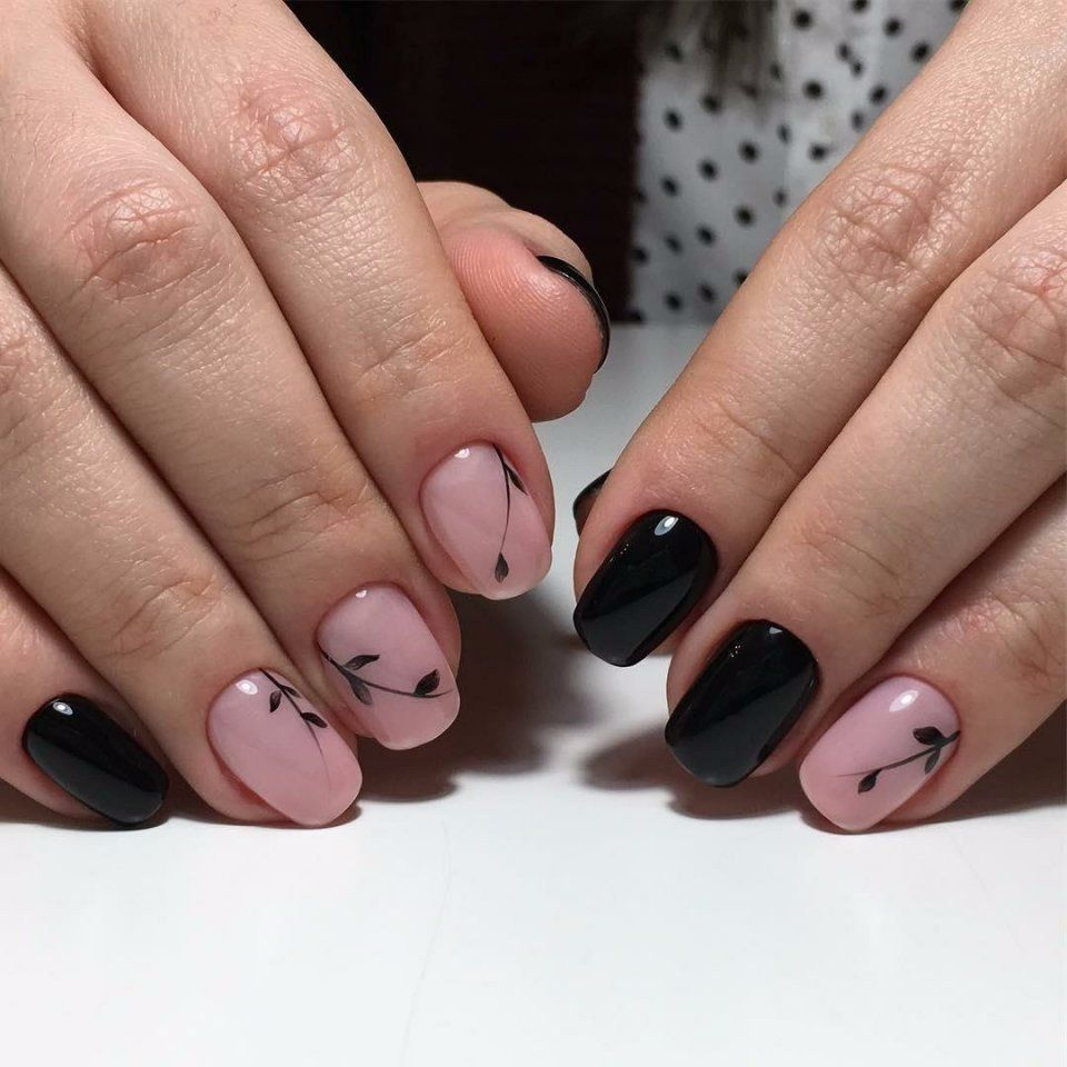 Простые рисунки цветы на ногтях фото