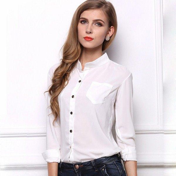 07685a03914 100 модных новинок  Стильные женские рубашки 2018 на фото
