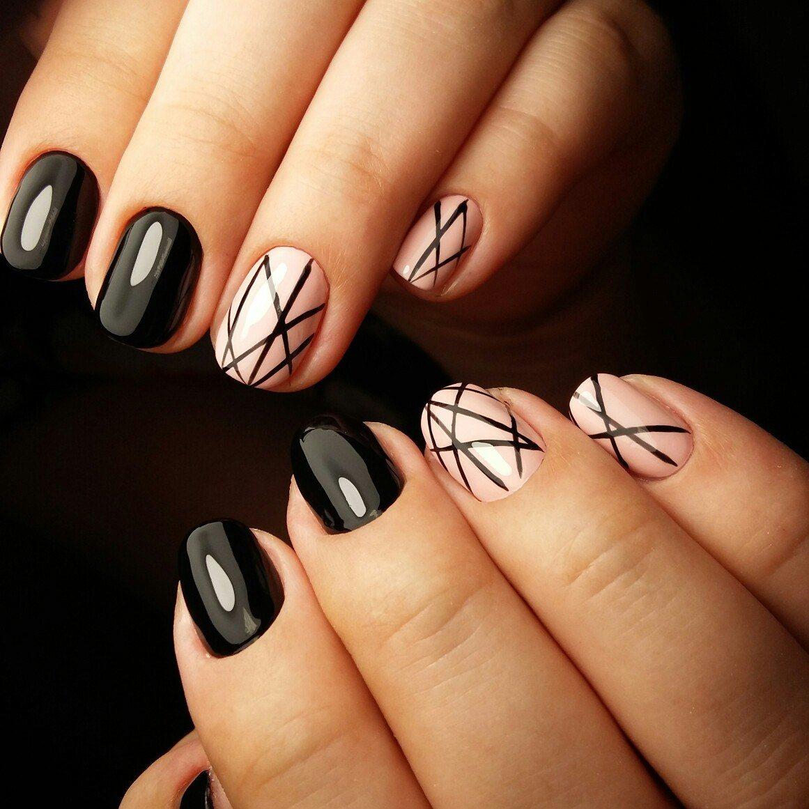 24 модных новинок: Дизайн ногтей с рисунком 24 на фото