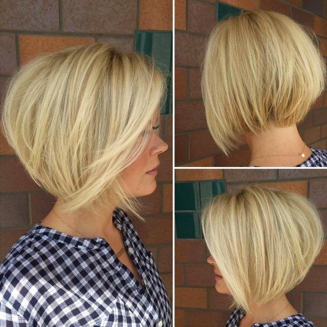 причёски лесенкой на средние волосы фото