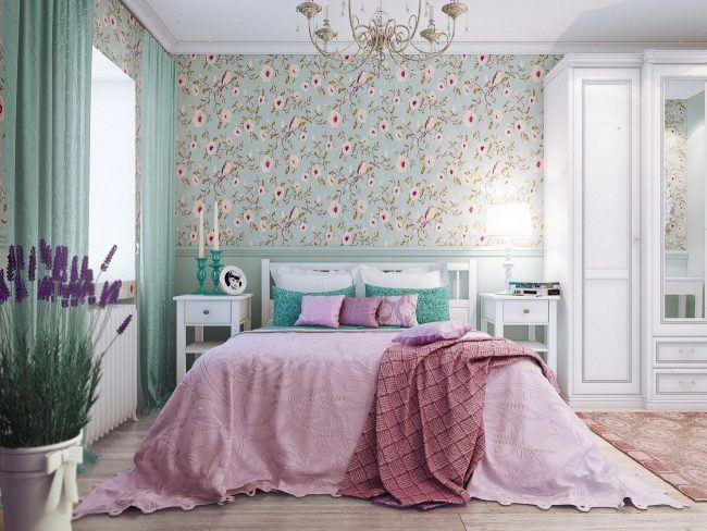 100 идей дизайна современные обои в интерьере спальни 2018 фото