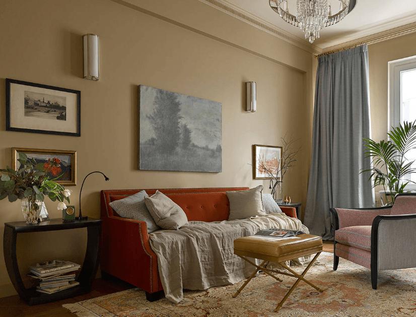 обои в гостиную 2018 года современные идеи дизайна на фото