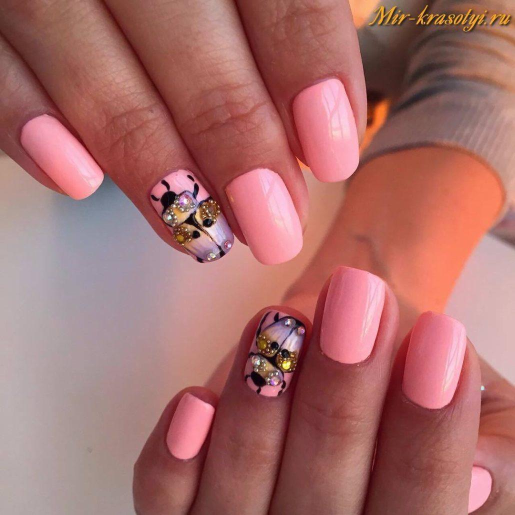 Дизайн ногтей шеллаком весна-лето 2017 новинки фото 938
