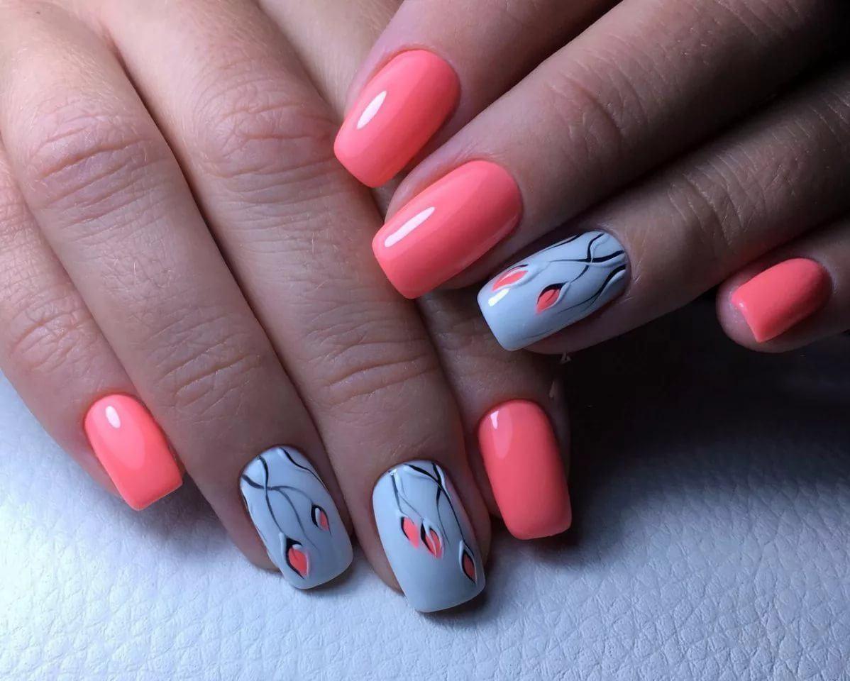 25 модных новинок: Дизайн ногтей с рисунком 25 на фото