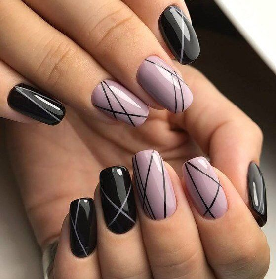Короткие Темные Ногти Дизайн Фото