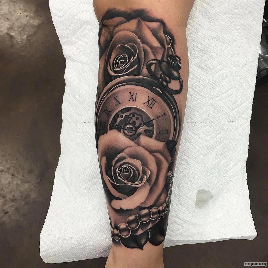 Татуировка часы на теле человека - какой смысл она несет, примеры фотографий с часами, эскизы и отзывы реальных людей, которые набили на свое тело часы.