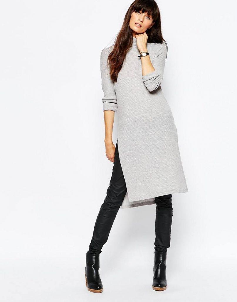 d44c5769bf7c457 С чем носить вязаное платье: 100+ модных примеров и идей 2018