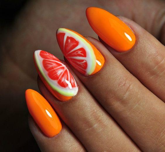Бордовые ногти форма миндаль