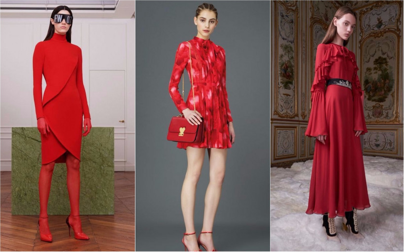 Красное платье: Супер женственные новинки 2019 года изоражения
