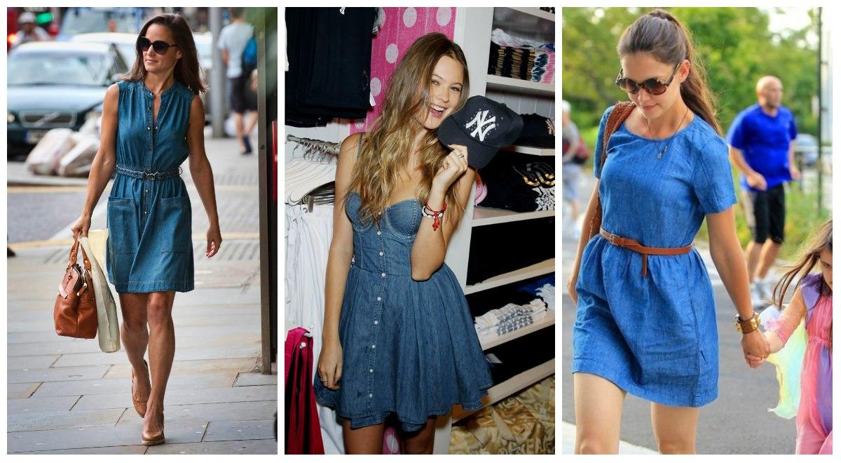 5555555 Самые красивые джинсовые платья и джинсовые сарафаны 2019-2020: модные новинки, фото