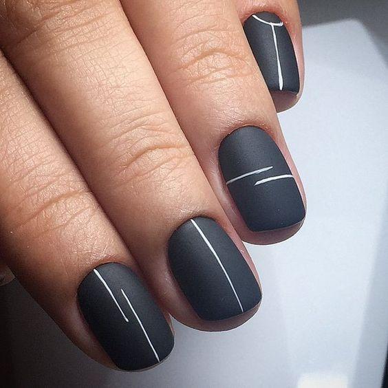 черно белый маникюр на коротких ногтях фото