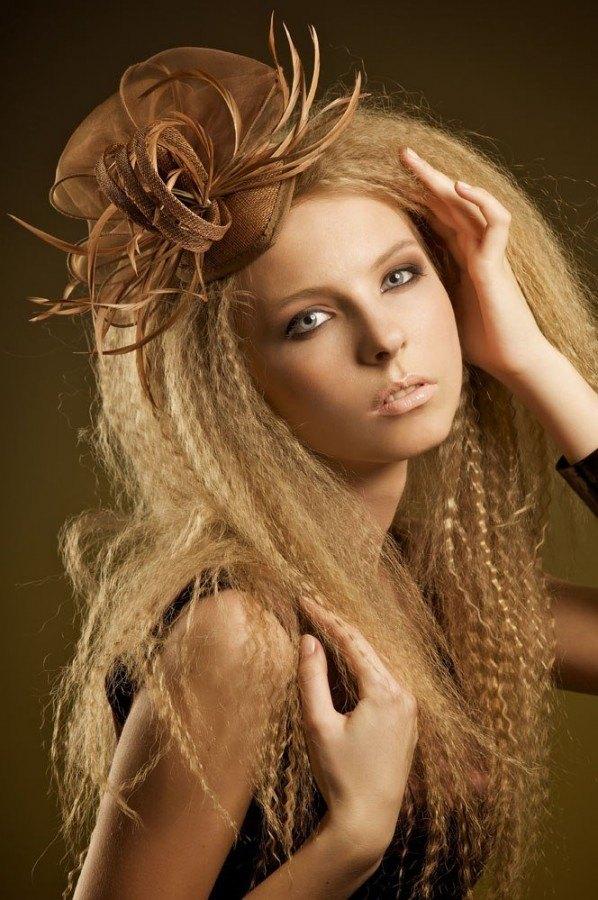 Гофрированные волосы фото