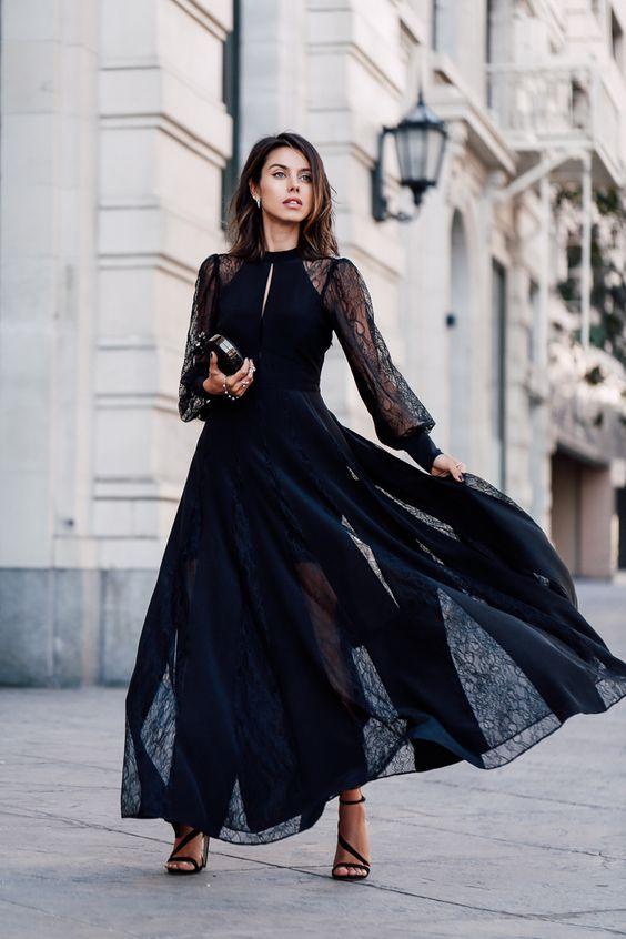 83cc69836df С чем носить черное платье  100+ модных образов и сочетаний на фото