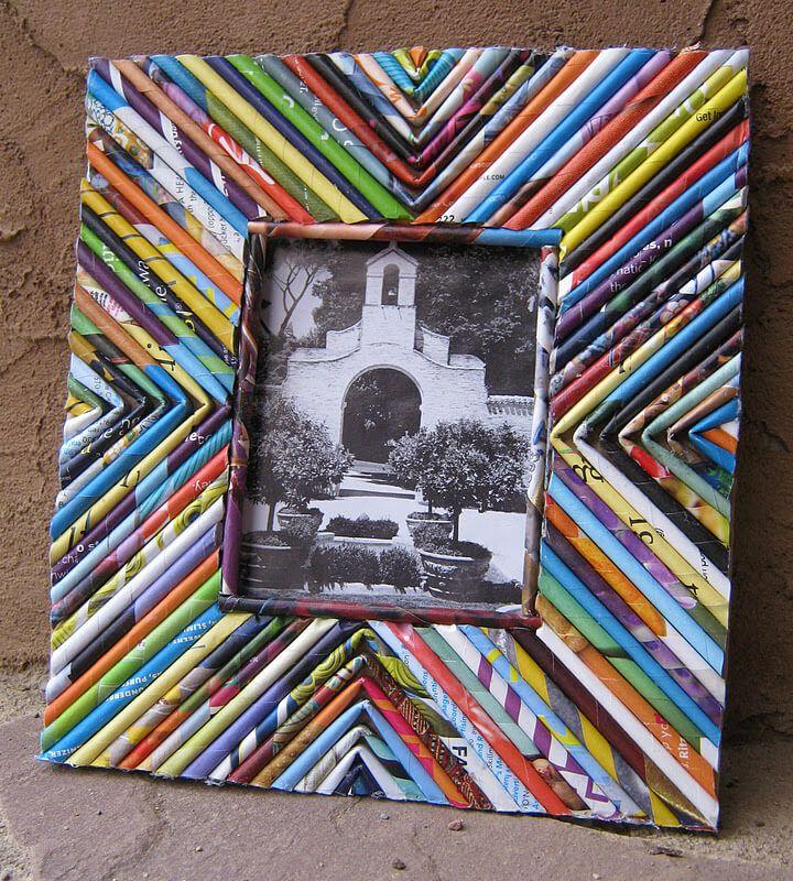Фоторамка своими руками из бумаги, дерева и картона (92 фото идеи)