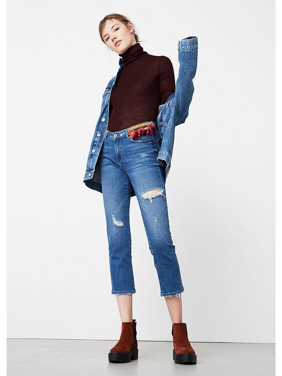 Pantalones Recortados De Mujer100 Tendencias E Vaqueros Brillantes jLUqVpGSzM