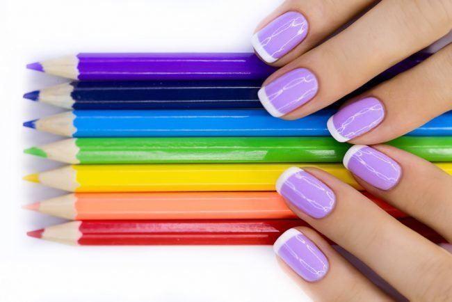 Цветной френч на ногтях: 100 фото новинок дизайна 2020