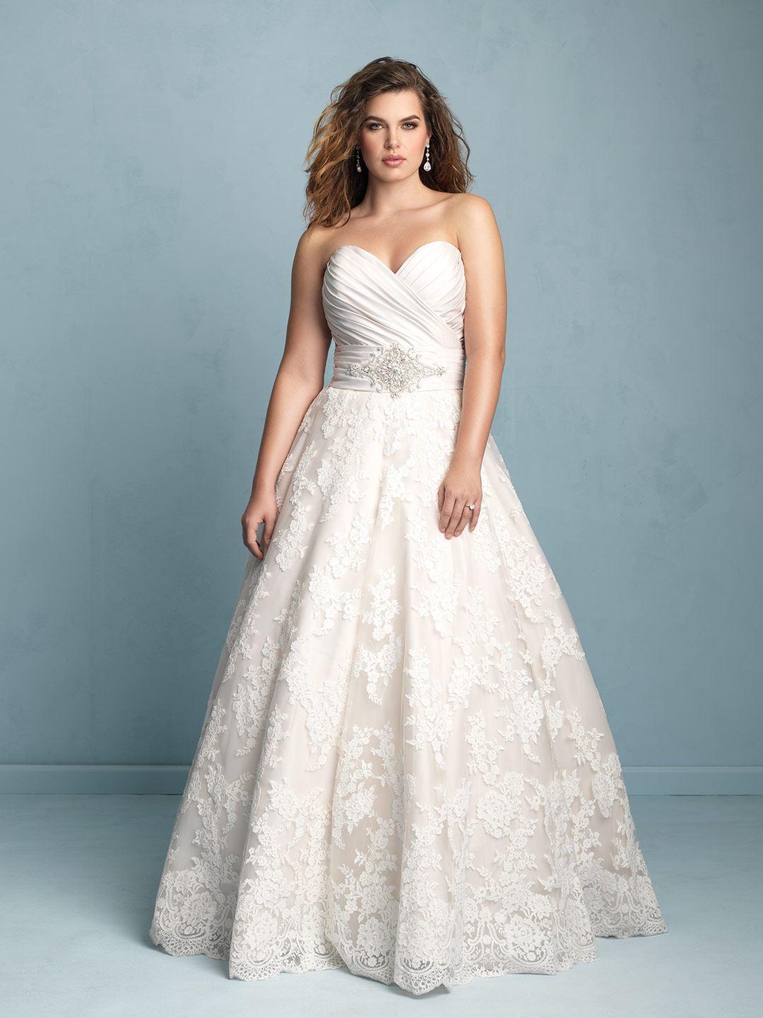 6d30795720f Свадебные платья для полных  100+ вариантов дизайна на фото