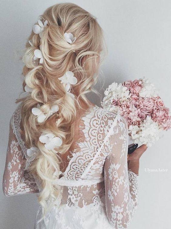 Свадебные прически накрученные волосы длинные