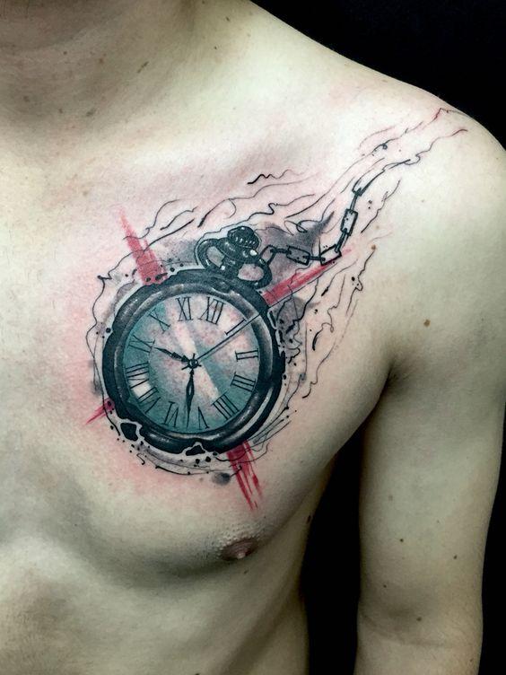 фото тату часов и обозначение дома различных областях