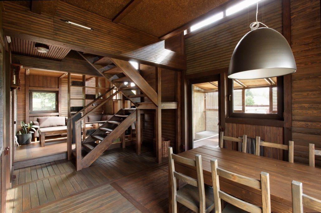 Интерьер небольшого дачного дома