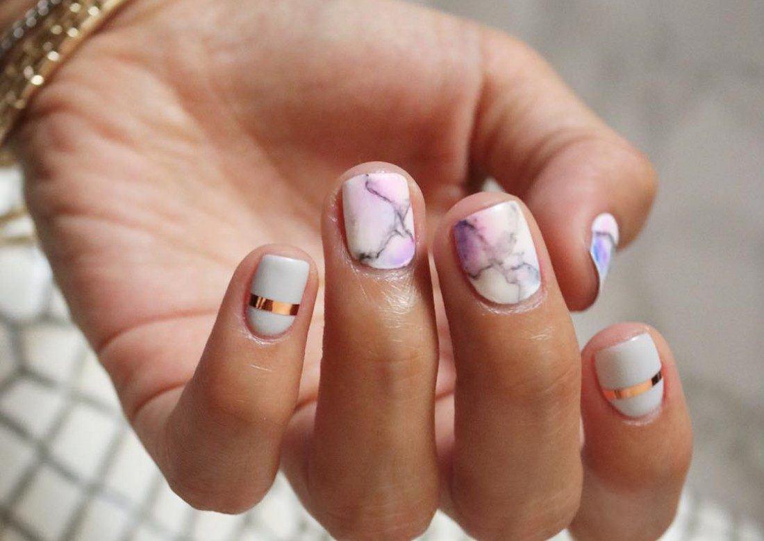 Белый Шеллак На Короткие Ногти Фото