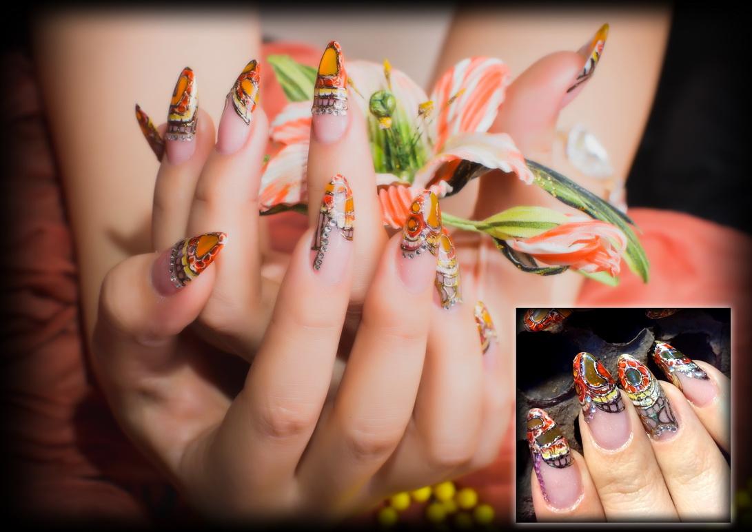 Дизайны нарощенных ногтей
