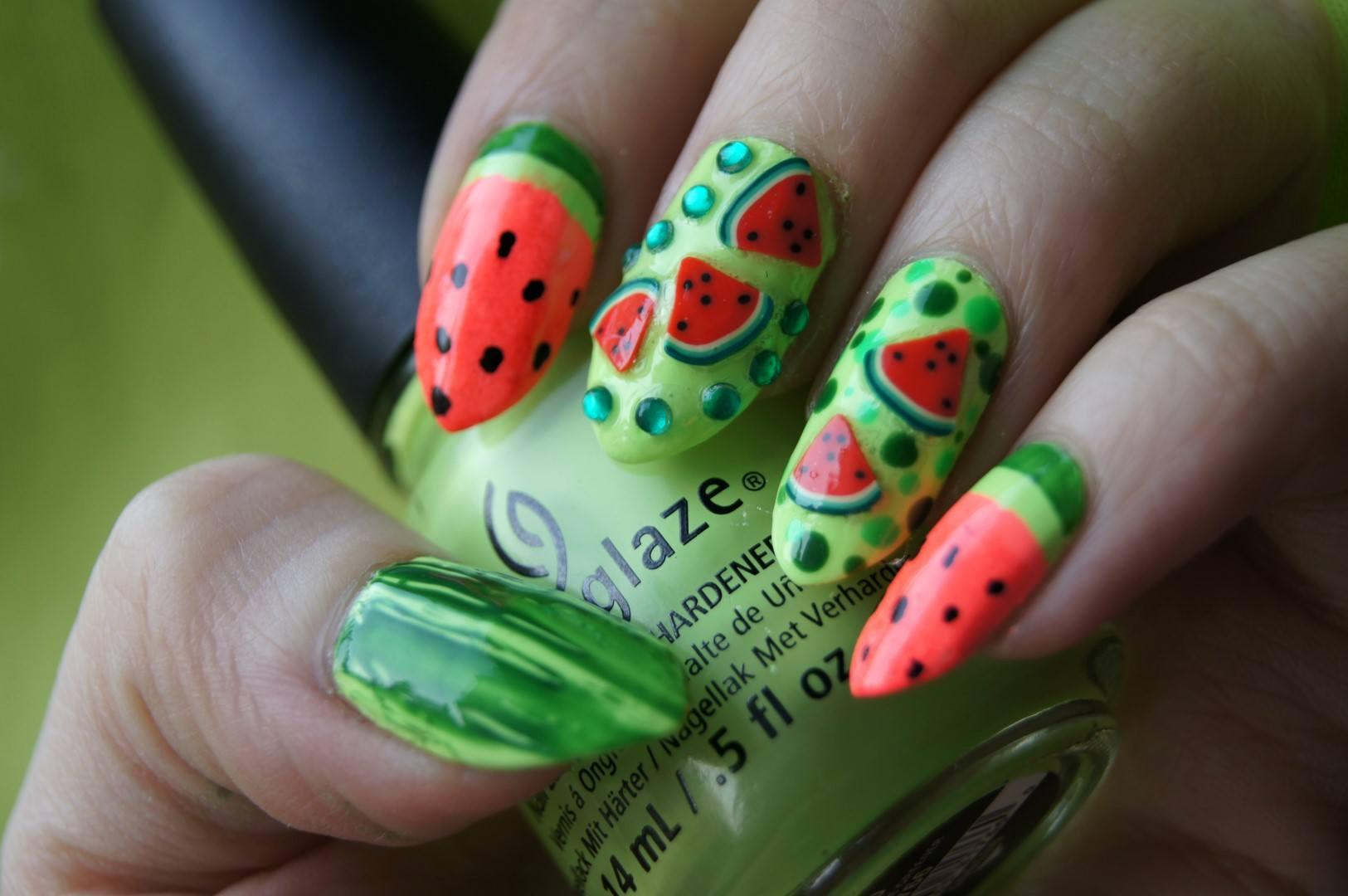 24+ яркий идей: Маникюр с фруктами - тенденции и новинки ...