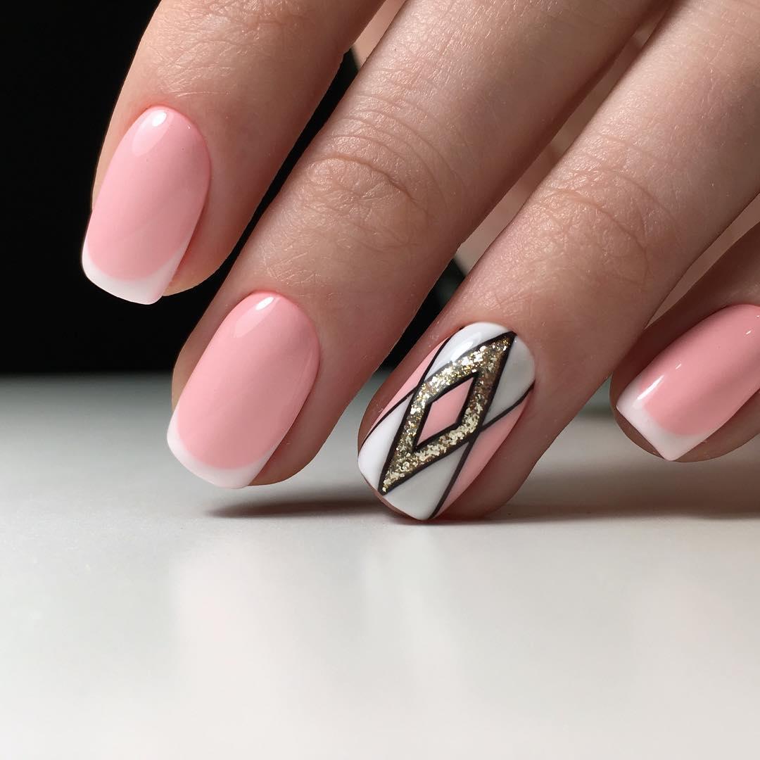 верхний дизайн ногтей 24 фото френч