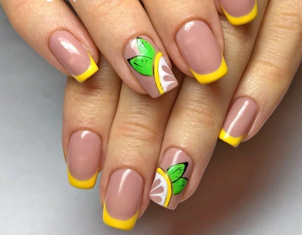 Желтый Дизайн Ногтей Фото Новинки