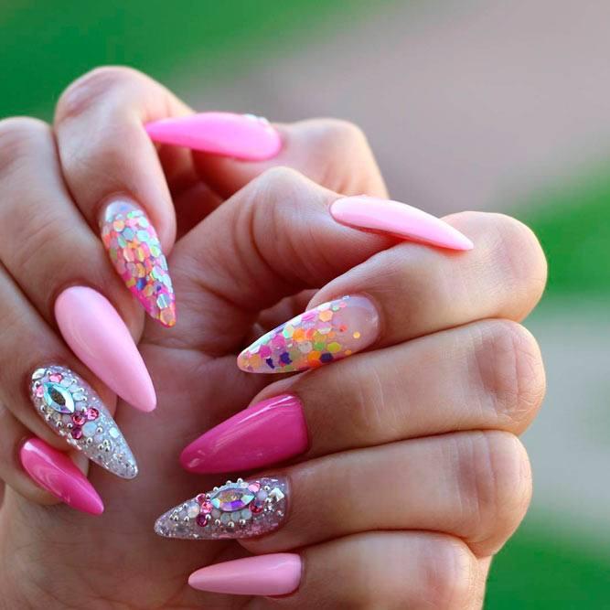 фото весеннего маникюра на нарощенных ногтях легко сделать