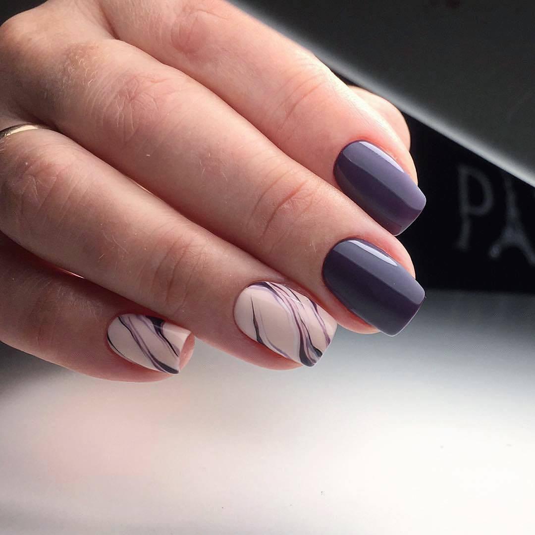 Белые Ногти С Втиркой Дизайн Фото