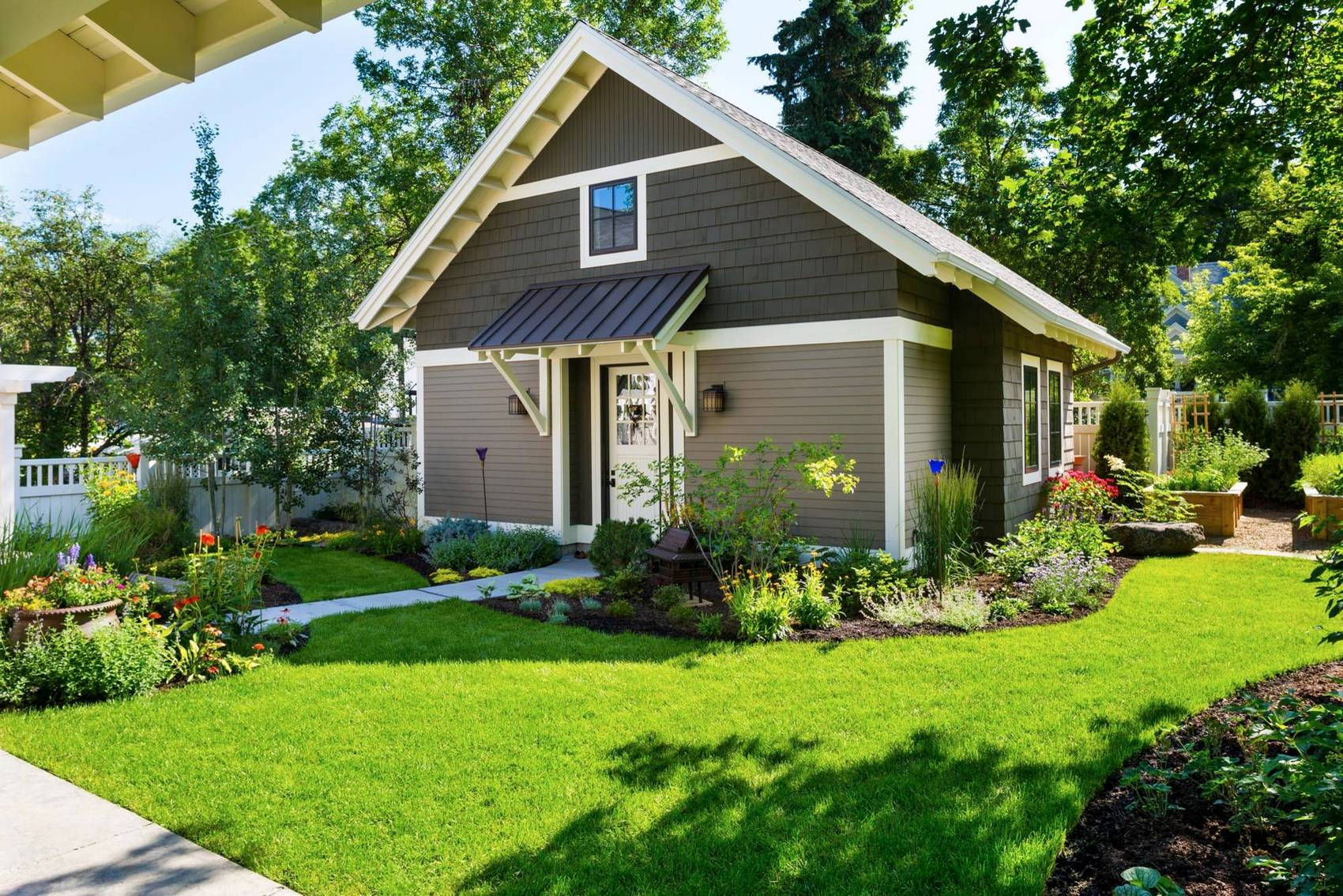 Фото красивых домов на небольшом участке