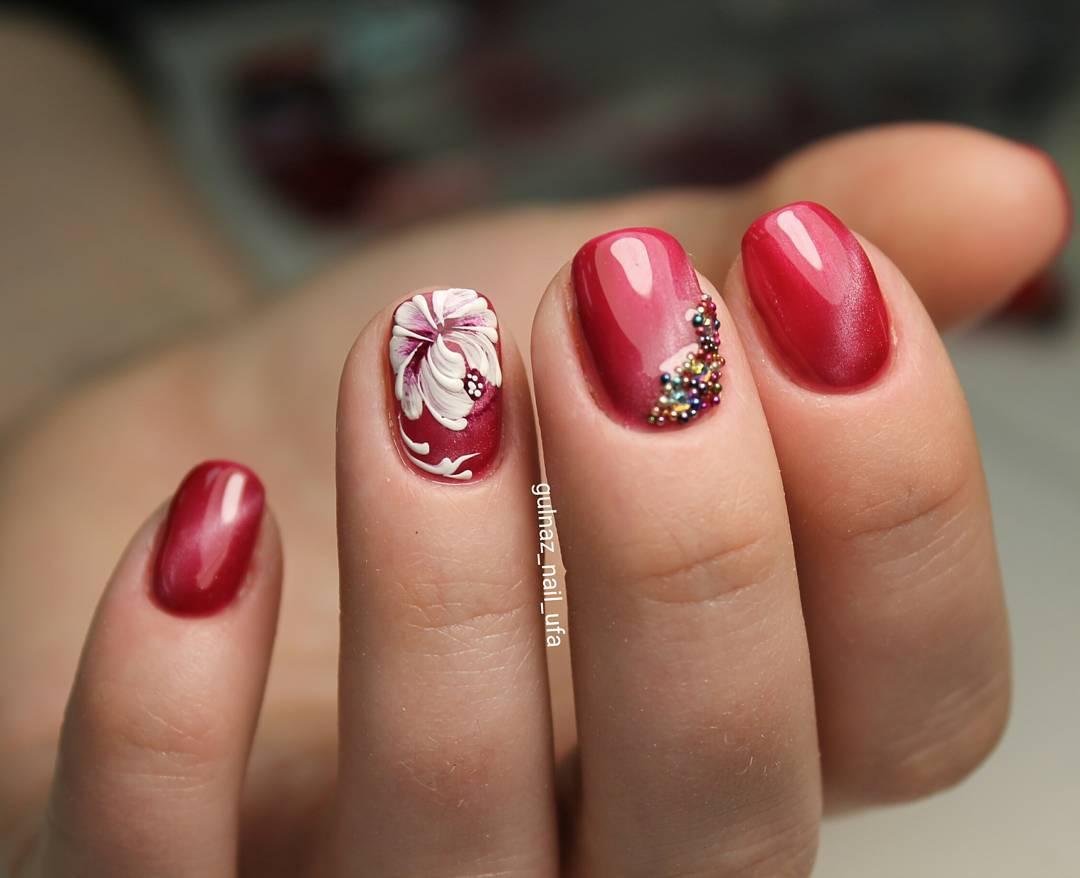 Ногти гель лак красный цвет