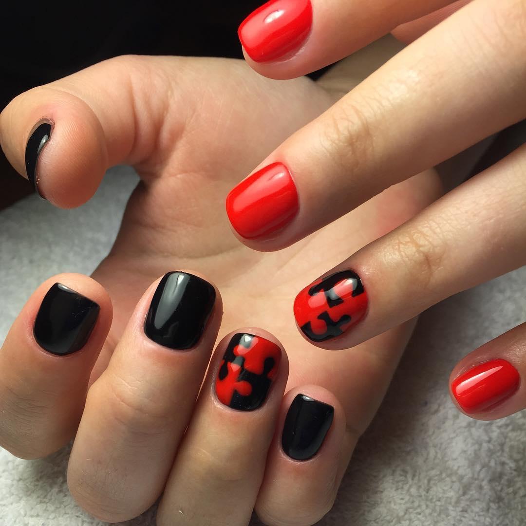 Красный маникюр: 60 фото вариантов украшения ногтей красным