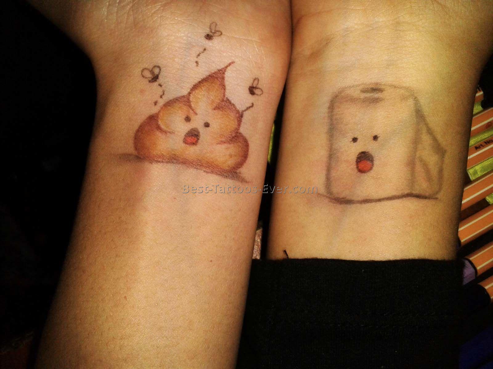 matching-friendship-tattoo-0 Тату на животе для девушек: топ-5 идей для эскизов, фото татуировок