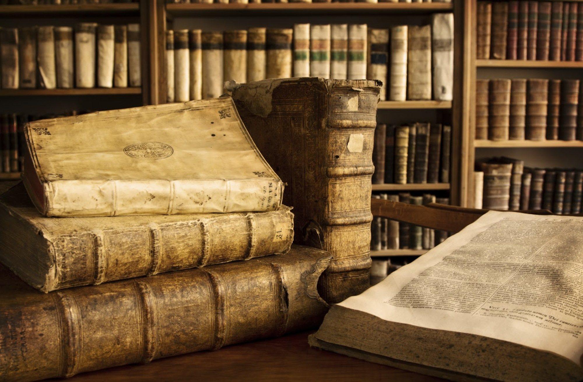 Старинные книги картинка фон