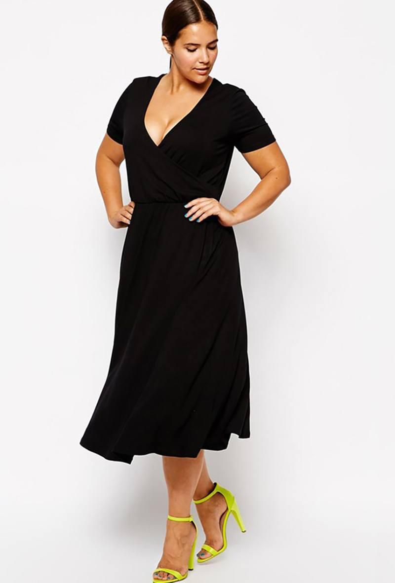 dc6bb2572d1 Фасоны платьев для полных женщин  100 фото модных моделей