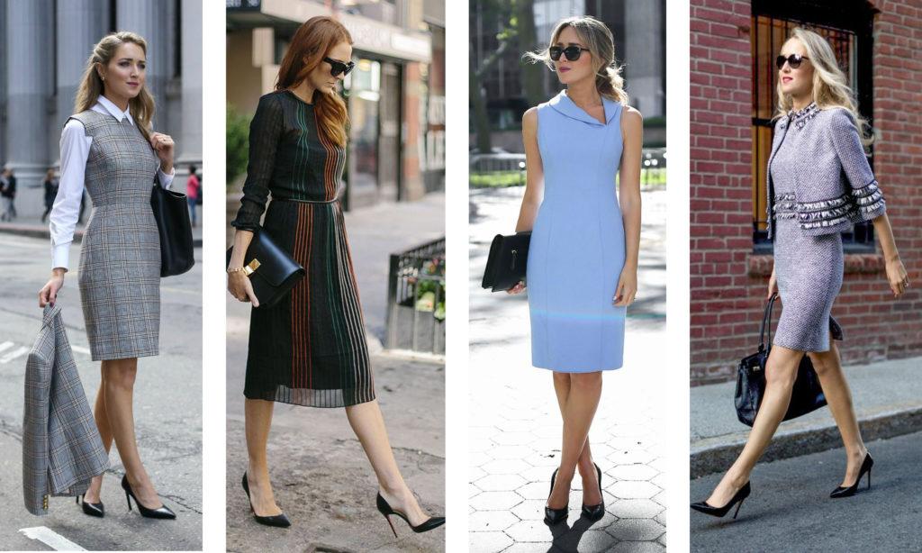 Модные тенденции, фасоны и цвета деловых платьев