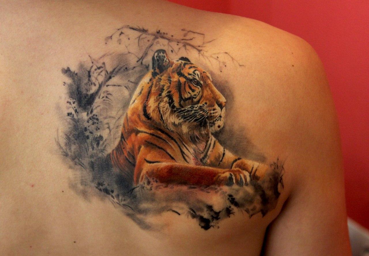 Татуировка тигра значение для мужчин