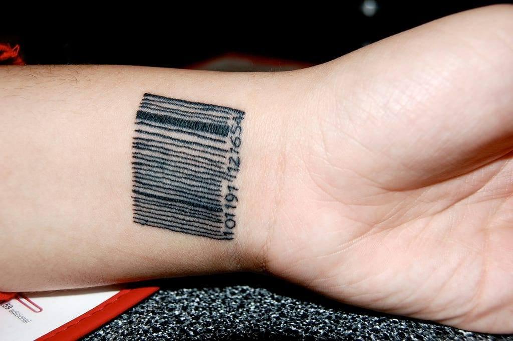 что фото тату штрих код на кисти моему мнению, изделию