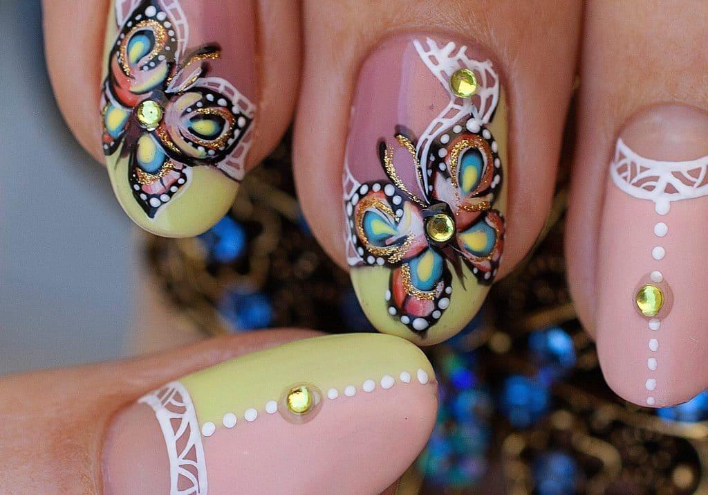 Ногти картинки бабочки