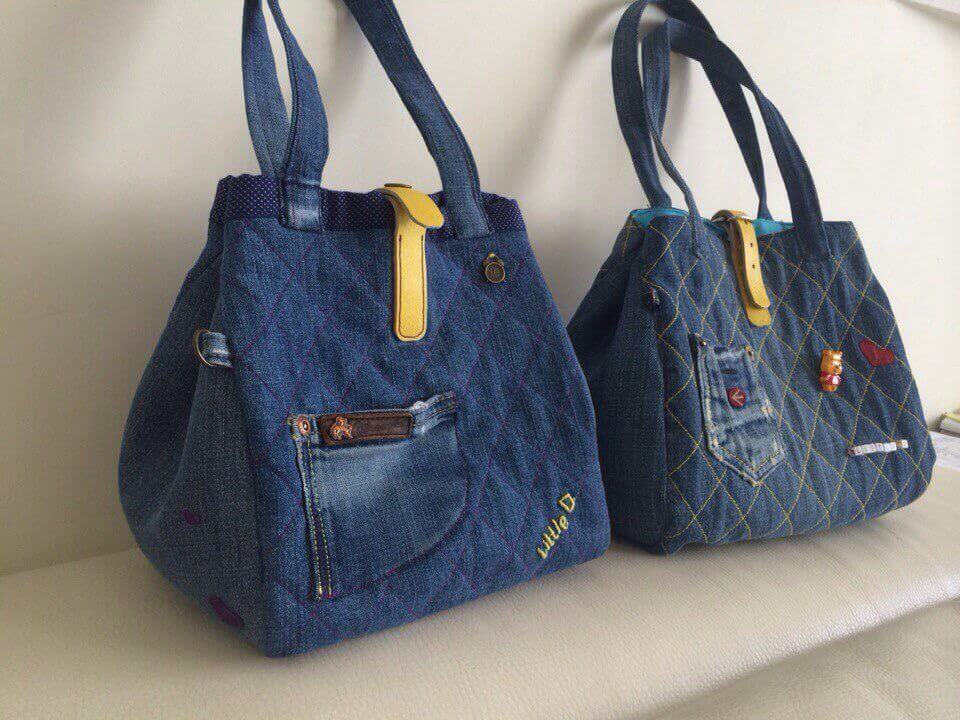 Сшить мужскую сумку из старых джинсов